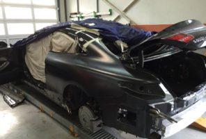Prova di fissaggio del nuovo parafango posteriore sinistro - Mercedes Classe S
