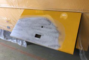 Riparazione portello laterale mezzo pesante