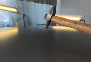 Martelletto per livellamento bolli da grandine con tecnica levabolli