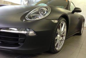 Wrapping totale porsche 911 in tinta 3M serie 1080 - M12 Matte black