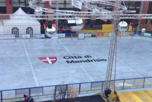 decorazione pista di ghiaccio