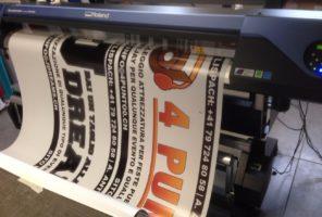 Stampa striscioni fino a 160cm di larghezza